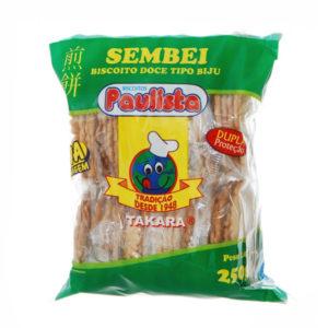 Paulista Sembei doce com gergelim tipo biju 250g