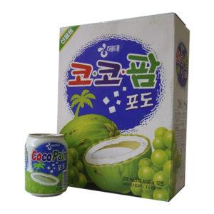 Suco Haitai Coco Palm de Uva com pedaços coco