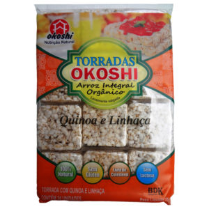 Hikage Torradas Arroz Integral Orgânico Quinoa e Linhaça