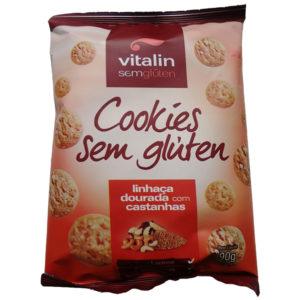 Vitalin Cookies Linhaça Dourada com Castanha