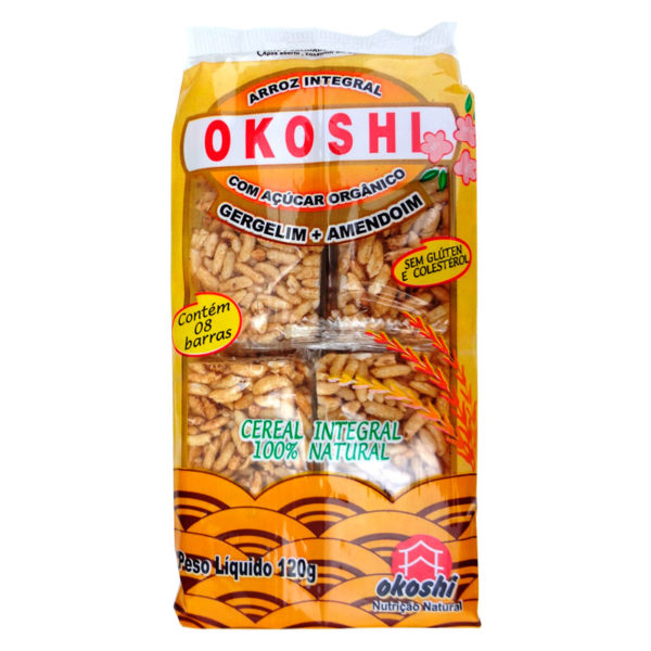 Hikage Okoshi Arroz Integral com Açúcar Orgânico Gergelim+Amendoim