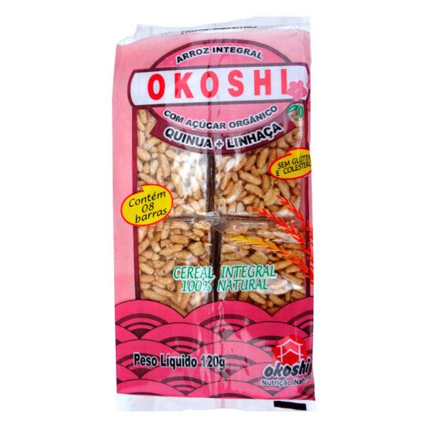 Hikage Okoshi Arroz Integral com Açúcar Orgânico Quinoa+Linhaça