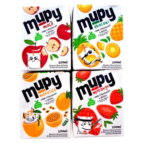 Sucos Mupy de Extrato de Soja