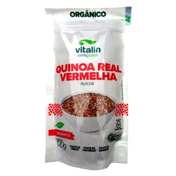 Vitalin Quinoa Real Vermelha Orgânico em Flocos