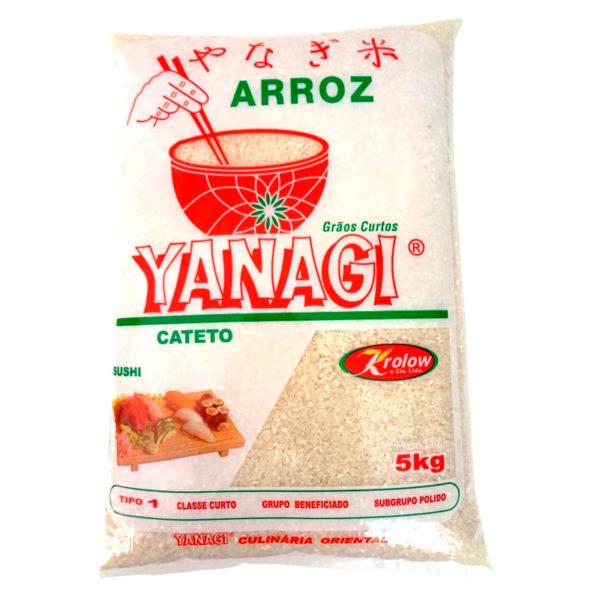 Yanagi Arroz Oriental Cateto Curto 5KGCurto-5KG